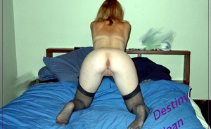 Yummy Amature In Stockings Showing Her Ass And Tits