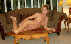 Horny Blonde Enjoying Her Nude Poses